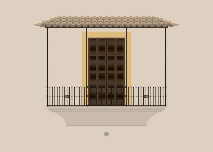 Balcó del carrer Puresa, 2 de Palma de Mallorca